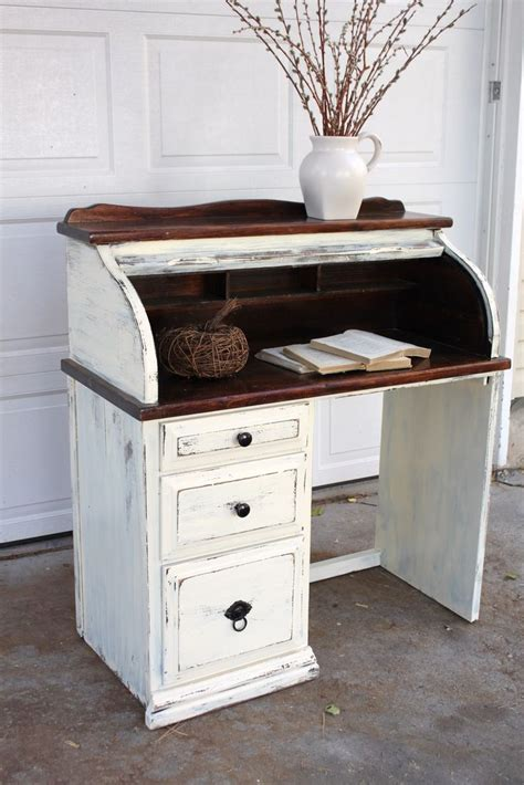 shabby chic roll top desk distressed roll top desk upcycling ideas pinterest paint colors the two and two tones