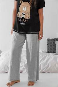 Sash Cord Size Chart Grey Basic Cotton Pyjama Trousers Plus Size 16 To 32