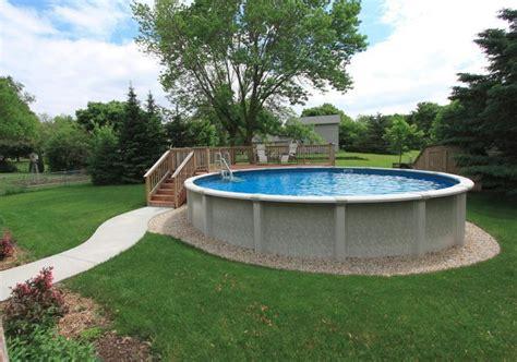 ground pool  partial deck  sidewalk