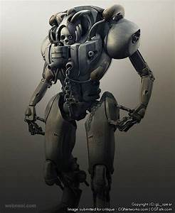 50 Stunning And Futuristic 3d Robot Character Design