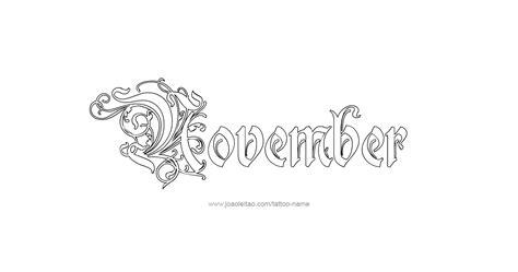 november month  tattoo designs tattoos  names