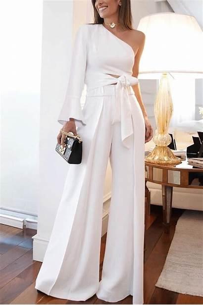 Pantalones Vestidos Shoulder Pure Moda Jumpsuit Ropa