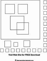 Coloring Squares Designlooter sketch template