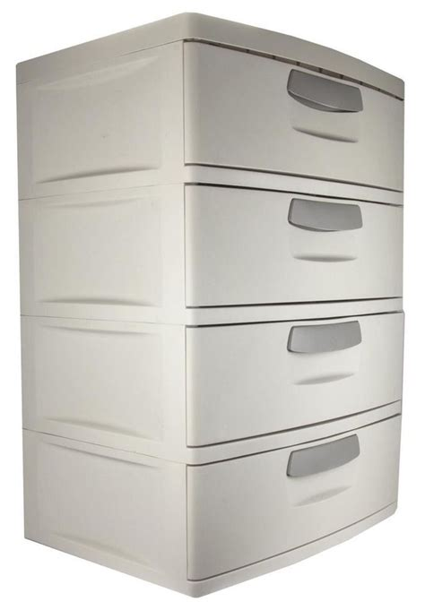 Storage Cabinet With Drawers by Details About Plastic 4 Drawer Cabinet Storage Organizer