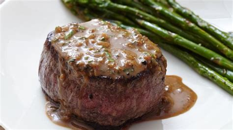 This beef tenderloin with mushroom pan sauce is the perfect entree for a special meal. Oven-Seared Beef Tenderloin with Herb Pan Sauce Recipe - Allrecipes.com