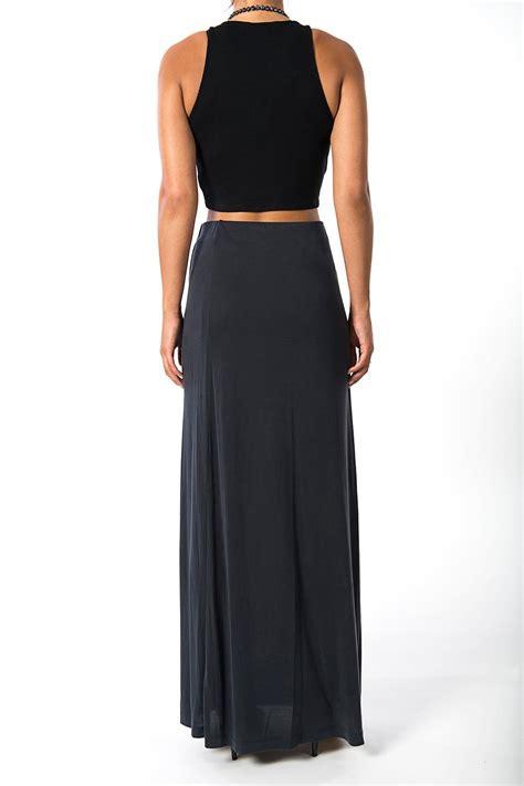 draped maxi skirt bcbg max azria draped maxi skirt from indiana by inspire