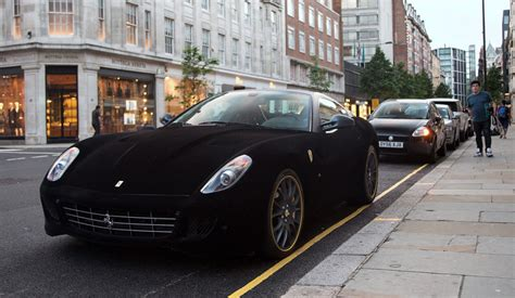 velvet car velvet ferrari spotted in knightsbridge london metro news