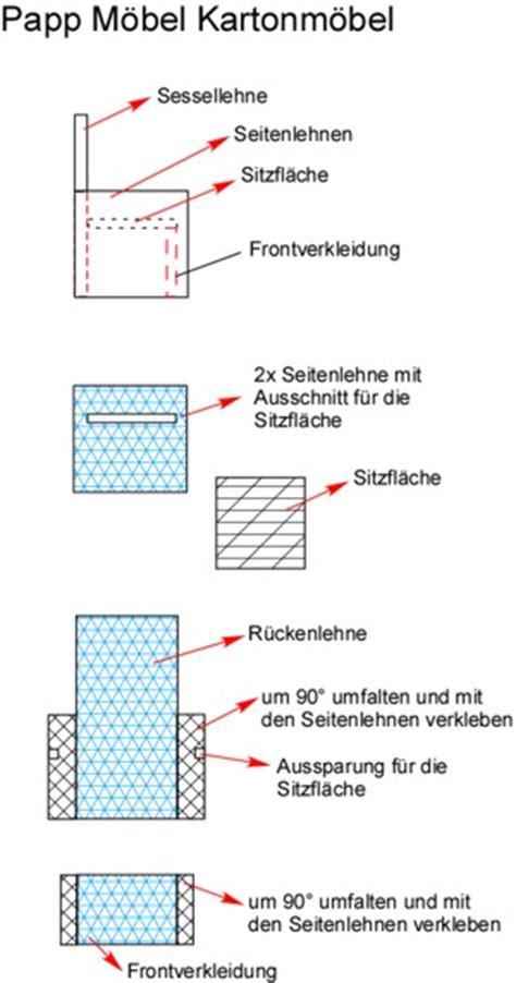 Pappmöbel Selber Bauen by Karton Selber Basteln Anleitung Wohn Design