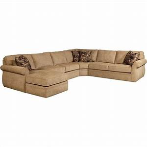 Broyhill veronica upholstered laf chaise sectional sofa in for Beige chenille sectional sofa