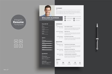 Resume Indesign by Alluring Resume Design Templates Indesign About Resume