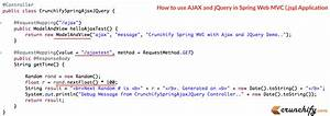how to use ajax and jquery in spring web mvc jsp With spring jsp template