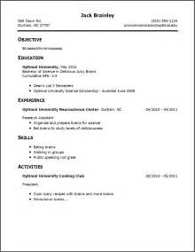 resume with no experience objective objective exles for resume for students
