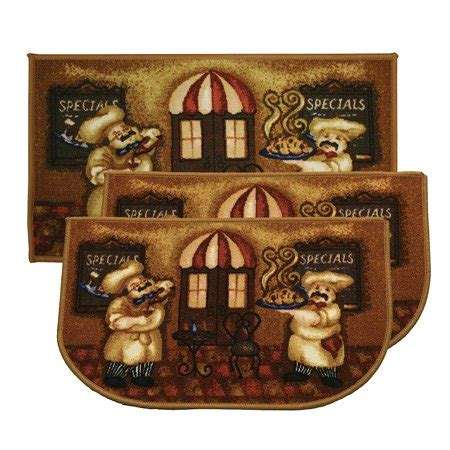 Chef Kitchen Rugs by Kashi Home Chef 3pc Kitchen Rug Set 2 Slice 18 Quot X30