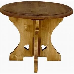 Grande Table Basse Ronde : table basse ronde bois massif montagnarde ~ Teatrodelosmanantiales.com Idées de Décoration