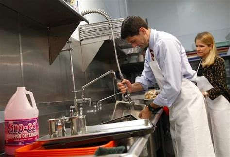 paul ryan busted  staged photo op  soup kitchen