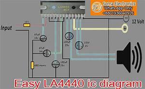 La4440 Ic Audio Amplifier Circuit Diagram And Pcb Layout