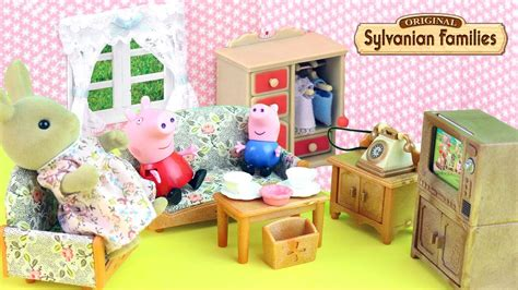 Sylvanian Families Kitchen And Living Room Collection : Sylvanian Families Living Room Set With Peppa Pig And