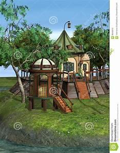 Haus Der Immobilienökonomie : fantasie haus der wiedergabe 3d stock abbildung bild ~ Lizthompson.info Haus und Dekorationen