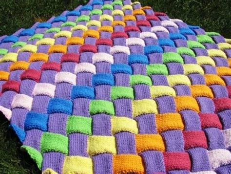 Diy Colorful Entrelac Knitted Baby Blanket Receiving Blankets Wholesale Egyptian Cotton Baby Blanket Fitted Electric King Us Military Wool Heated Car Over Single Michigan Throw