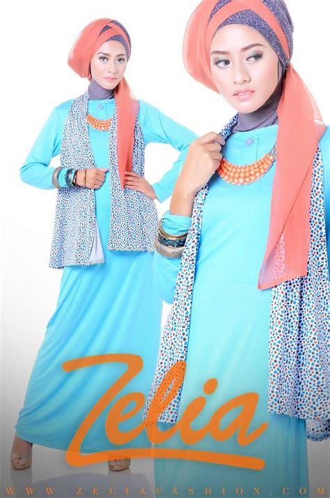 Zelia Gamis Dandelion Hitam Mg zelia biru muda baju muslim gamis modern