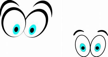 Eyes Cartoon Clipart Clip Eyeballs Straight Scared