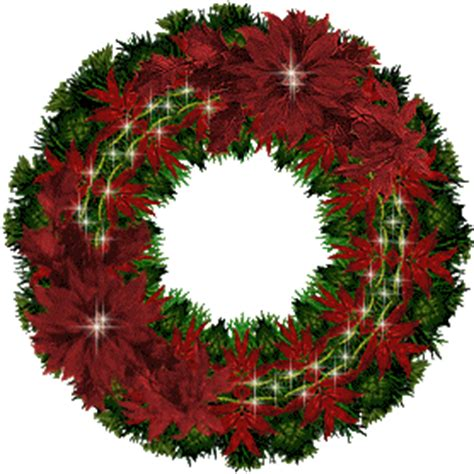 animated green christmas wreath