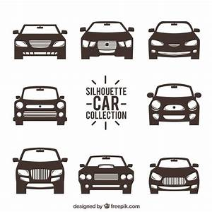 Front view of car silhouettes Vector | Free Download