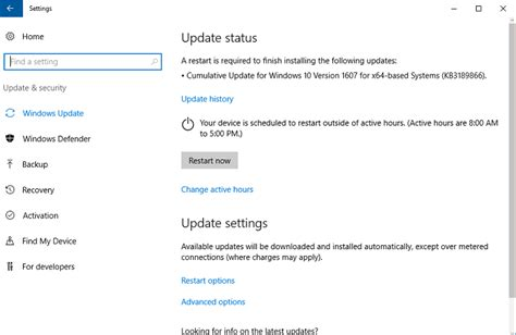 microsoft releases kb3189866 update for windows 10 version 1607