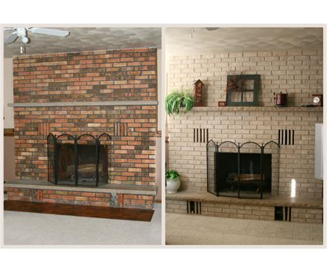 Comely Introduction Painted Brick Fireplace Makeover Diy