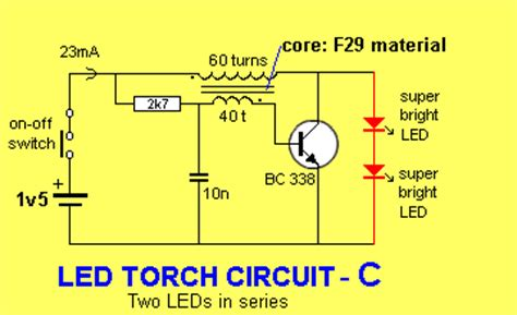 Circuit Diagram Led Torch by Led Torch