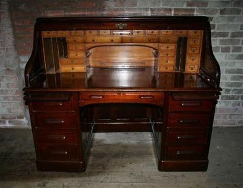 antique roll up desk antique american mahogany roll top pedestal desk