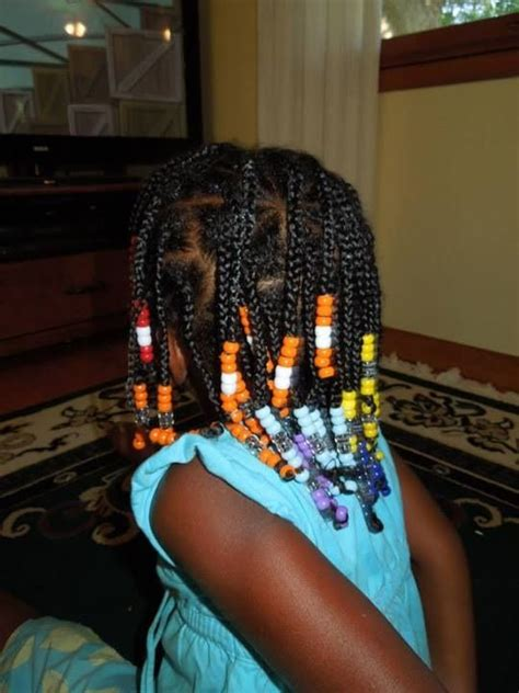 rainbow box braids  beads hair pinterest natural