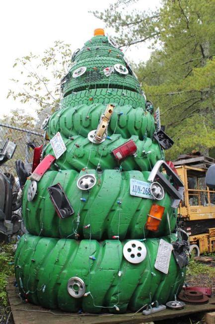 recycling tires  winter decorating original handmade