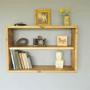 Reclaimed, Natural, Wooden, Double, Wall, Shelf, By, Seagirl, And, Magpie