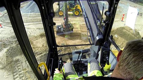 volvo ecrd  tail excavator test drive cab view
