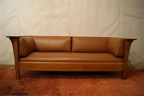 Stickley Mission Leather Sofa mission quot stickley quot leather sofa