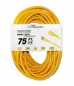 10  3 75 Feet Sjt Lighted End Extension Cord 15 Amp 125