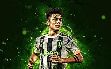 Download wallpapers Paulo Dybala, green neon lights ...