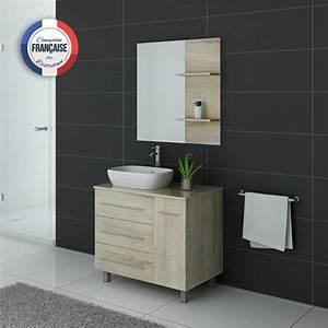 Meuble Salle De Bain Asymétrique : ensemble meuble salle de bain meuble salle de bain 1 vasque scandinave toscane sc ~ Nature-et-papiers.com Idées de Décoration