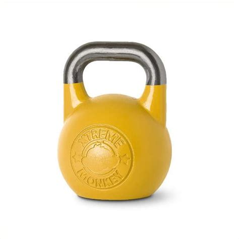 competition yellow kettlebell kettlebells 16kg fitness weights xtreme monkey weight kettle