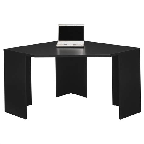 Black Corner Computer Desks For Home by Bush Myspace Stockport Wood Corner Desk In Black My62902 03