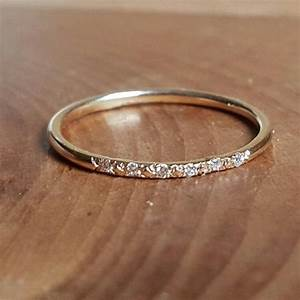 14k gold pave diamond ring 14k stacking rings 14k gold With stacking engagement wedding rings