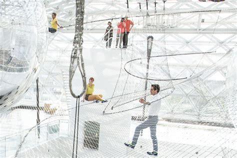 In Orbit Düsseldorf by Scary A 27 000 Square Foot Hammock Hung 6 Stories