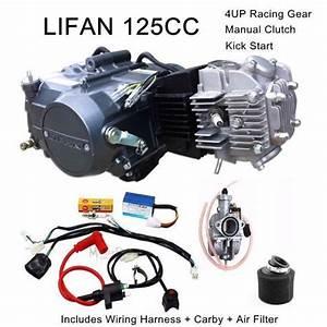 Aliexpress Com   Buy 125cc Manual Lifan Engine Motor Full