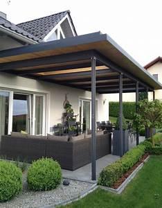 Terrasse Mit überdachung : berdachung metall und holz ~ Whattoseeinmadrid.com Haus und Dekorationen