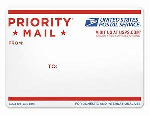 brand new new packaging for usps priority mail With free postage stickers