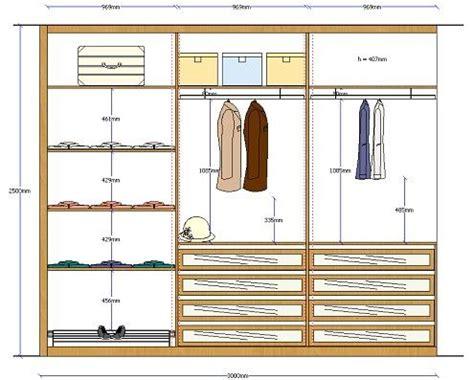 Alzado armario 1 Interiores de armarios Diseño de
