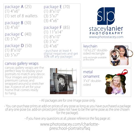 2017 preschool packages and product offerings stacey 225 | 2017 Preschool Cards