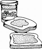 Peanut Sandwich Coloring Butter Pages Drawing Getdrawings Colouring Printable Halloween Getcolorings Popular sketch template