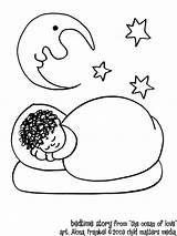 Coloring Pages Bedtime Sleep Sleeping Ocean Cartoon Story Adults Popular sketch template